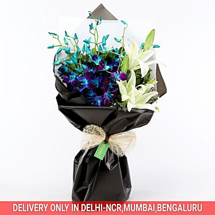 Buy Online Elegant Mix Flower Bouquet