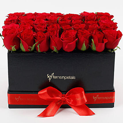 Gorgeous  Red Roses Arrangement:Girlfriend Day Flowers