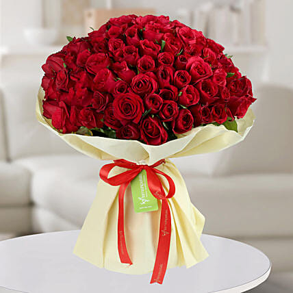 Red Roses Bouquet:Designer Flower Bouquet