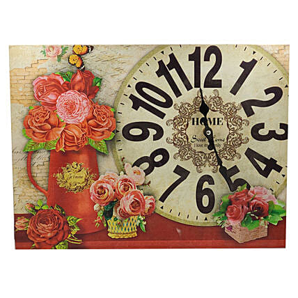 Painted Wall Clock:Wall Clocks
