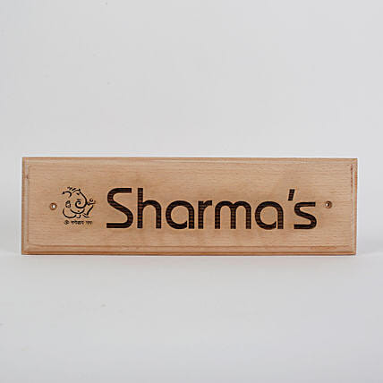 Last name engraved plaque:Housewarming Gift Ideas