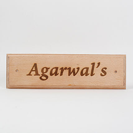 Name plate engraved plaque