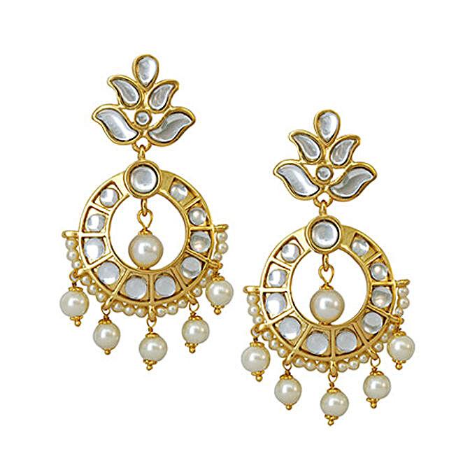 bb5ce9d2ec6ab Estelle 24 Ct Drop Earrings | Gift Artificial Earrings online - Ferns N  Petals