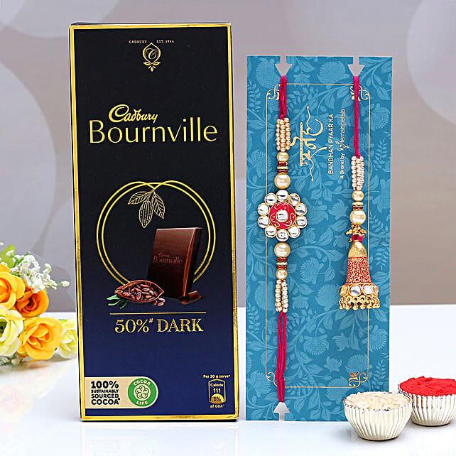 Ethnic Lumba Rakhi Set and Bournville