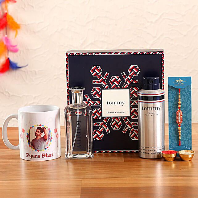 Ethnic Rakhi and Tommy Hilfiger New Holiday Set Personalised Gift