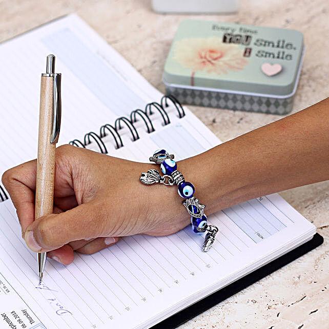 designer bracelet of evil eye