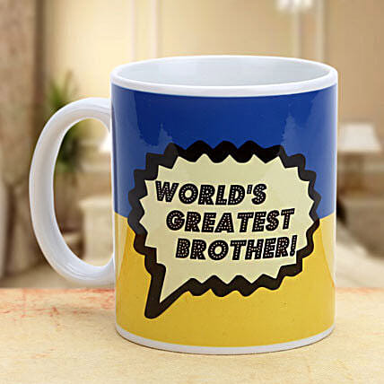 Greatest brother mug