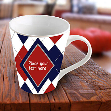 Exquisite Personalized Mug-Blue and red mug:Send Personalised Mugs for Wedding