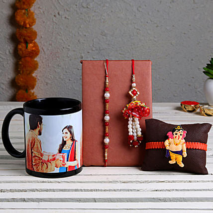 Online Rakhi Set and Photo Mug  For Brother:Cartoon Rakhi