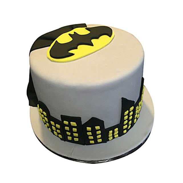 Batman birthday themed Fondant Cake for Boys 1kg:Batman Cakes