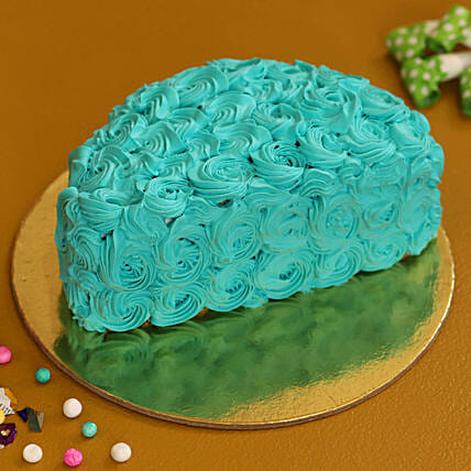 blue half shape cake online:New Arrival Cakes