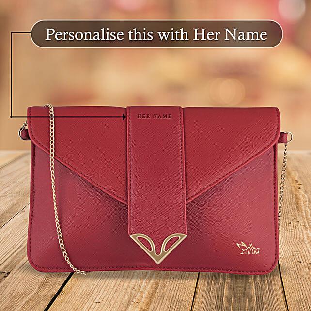 Fancy Maroon Sling Bag Online:Customised Handbags and Wallets