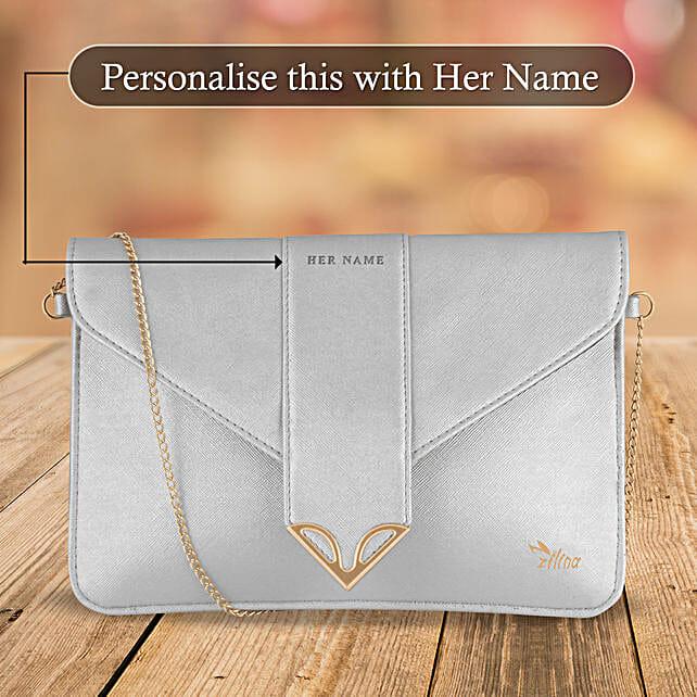 Fancy White Sling Bag Online