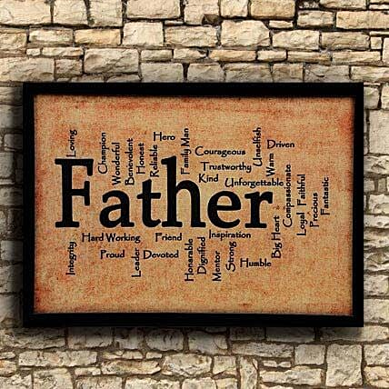 "Printed ""Father"" Frame for Dad"