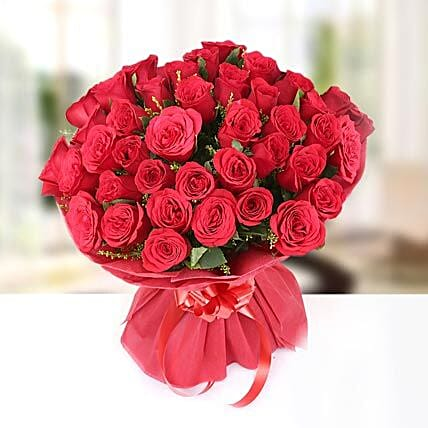Feelings - Bunch of 40 Red Roses.:Send Premium Roses