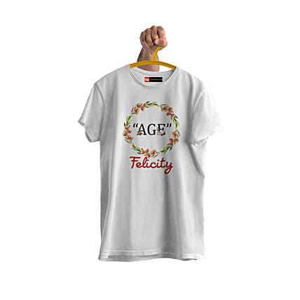 trendy personalised tshirt for birthday
