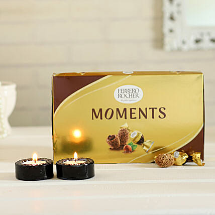 Ferrero rochers with candle set combo