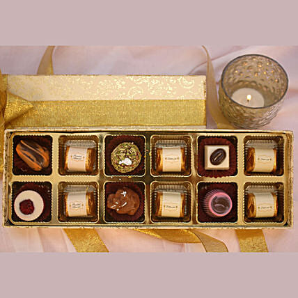 Festive Theme Assorted Chocolate Box- 12 Pcs
