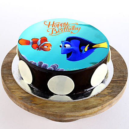 online finding nemo photo cake:Cartoon Cakes