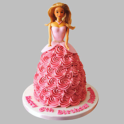 Barbie Doll Cake for Little Princesss  2kg