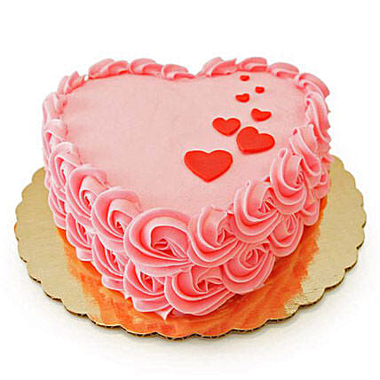 Pink cake box boutique cake 1kg:Rose Cakes