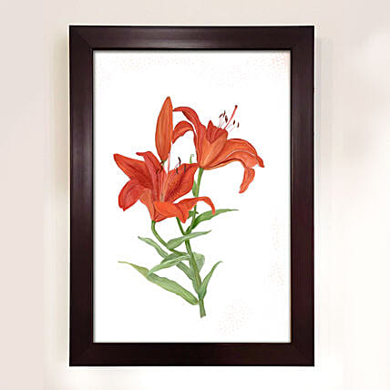 Floral Illustration Style Painting:Handicraft Gifts for Mothers Day