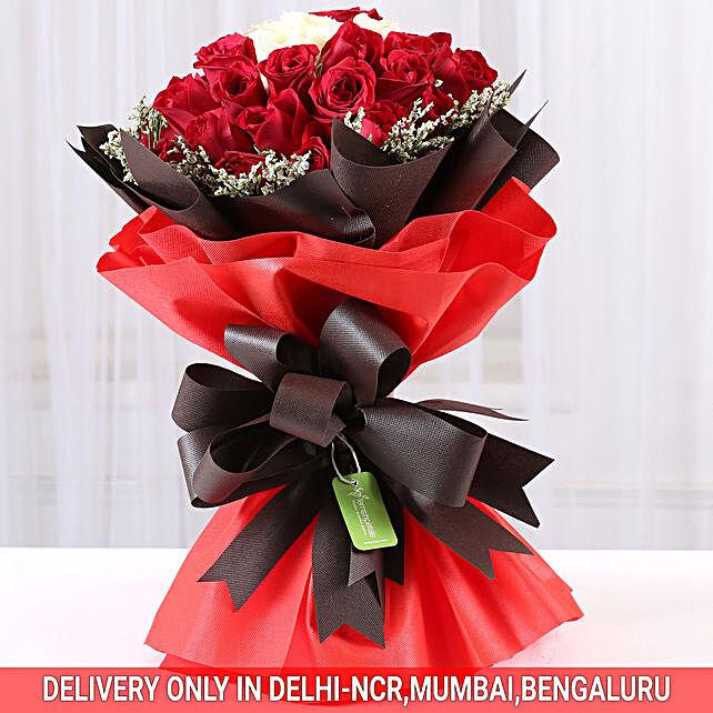 best roses n limoniums bouquet