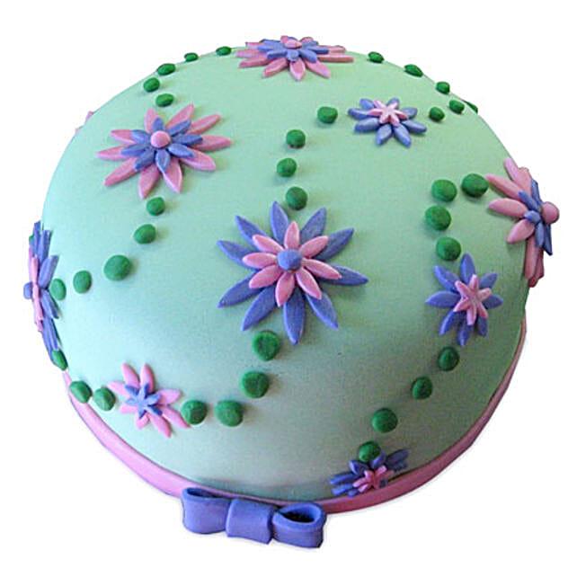 Flower Garden Cake 1kg Eggless Vanilla