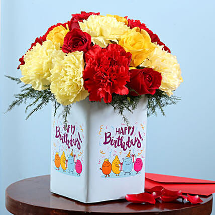 Online Flower Vase For Birthday