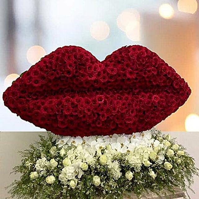 Lip Shape Floral Arrangement