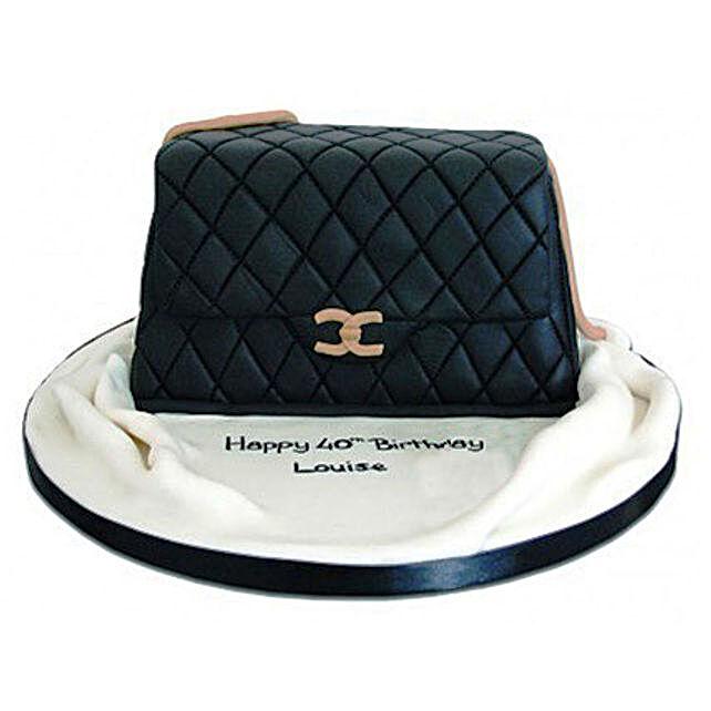 Fondant Handbag Cake 3kg Eggless