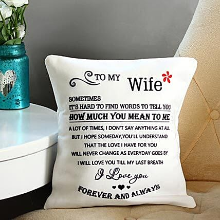 Quoted cushion for wife:Love N Romance Gifts