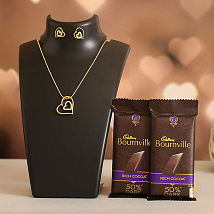 Forever Heart Necklace Set Cadbury Bournville
