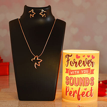 Forever With You Hollow Candle Pretty Necklace Set