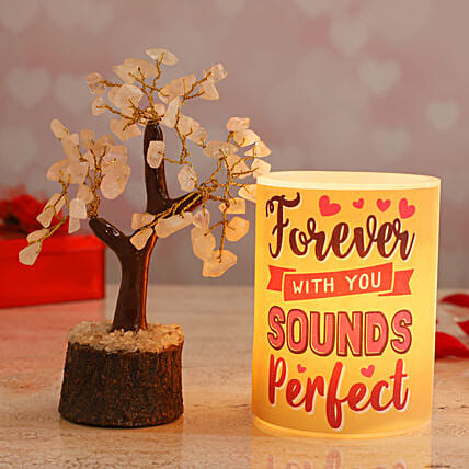 Forever With You Hollow Candle Rose Quartz Wish Tree