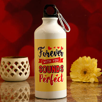 personalised water bottle for vday online