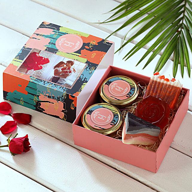 Fragrant Bath Essentials Personalised Box:Personalised Soaps