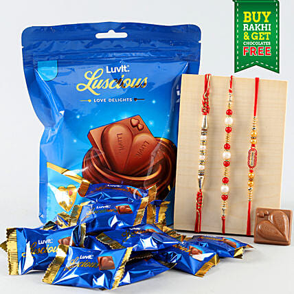 Chocolate with Rakhi Set Online
