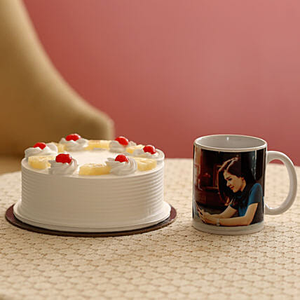 Personalised Mug and Cake Combo:Personalised Gifts Combos
