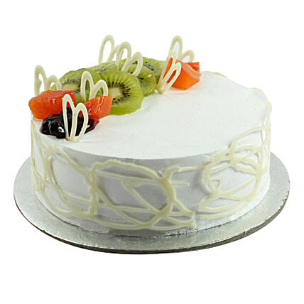 Fresh Ultimate Happiness Birthday Cake 1kg:Send Vanilla Cakes
