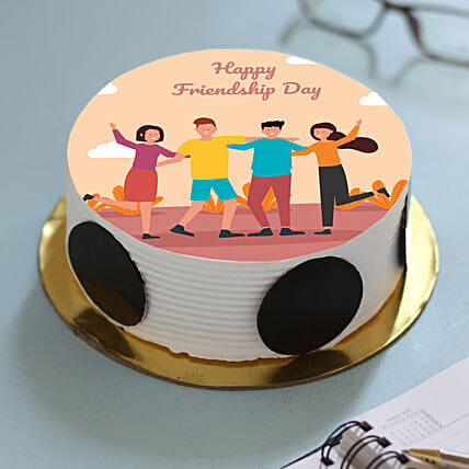 Friendship Day Pineapples Cake