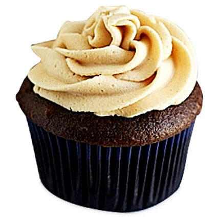 Frosted Peanut Butter cupcake 6:Send Birthday Cakes to Mumbai