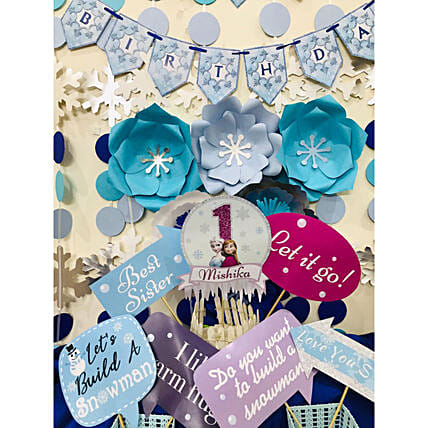 Frozen Theme Birthday DIY Box:Balloon Kits
