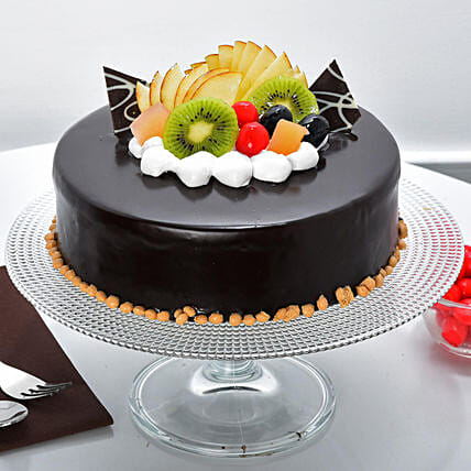 Fruit Chocolate Cakes Half kg Eggless:Buy Doctors Day Cakes