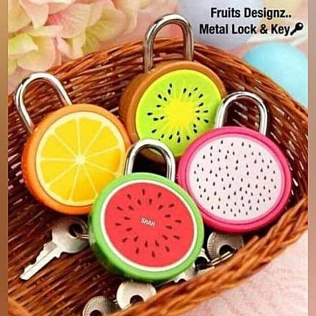 Fruit Shaped Lock And Key Set