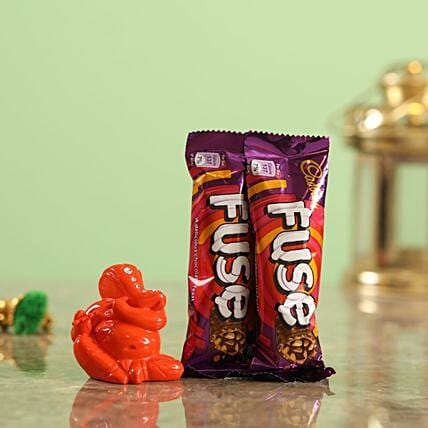 Fuse Chocolate Orange Ganesha Idol