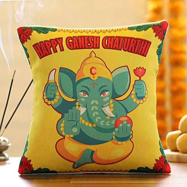Ganpati Bappa Print Cushion