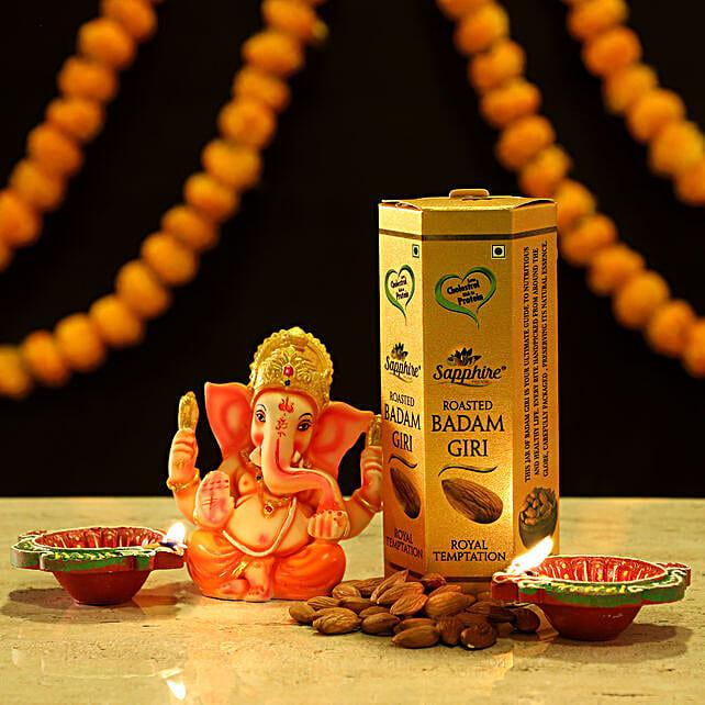 Online Ganesha Idol And Almond Combo