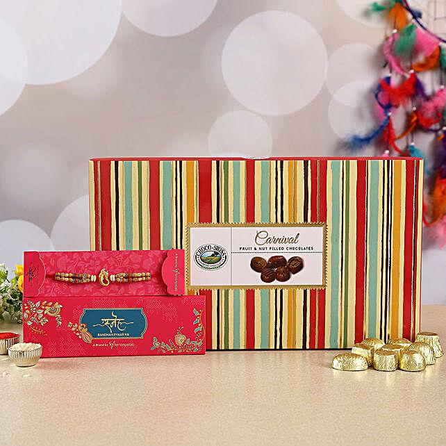 Ganesha Rakhi And Chocolate Box