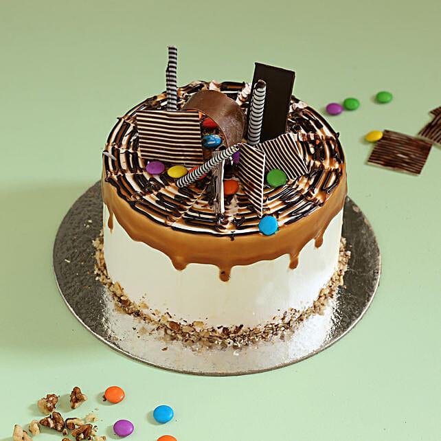 Online Caramel Gems Cake:Walnut Cakes